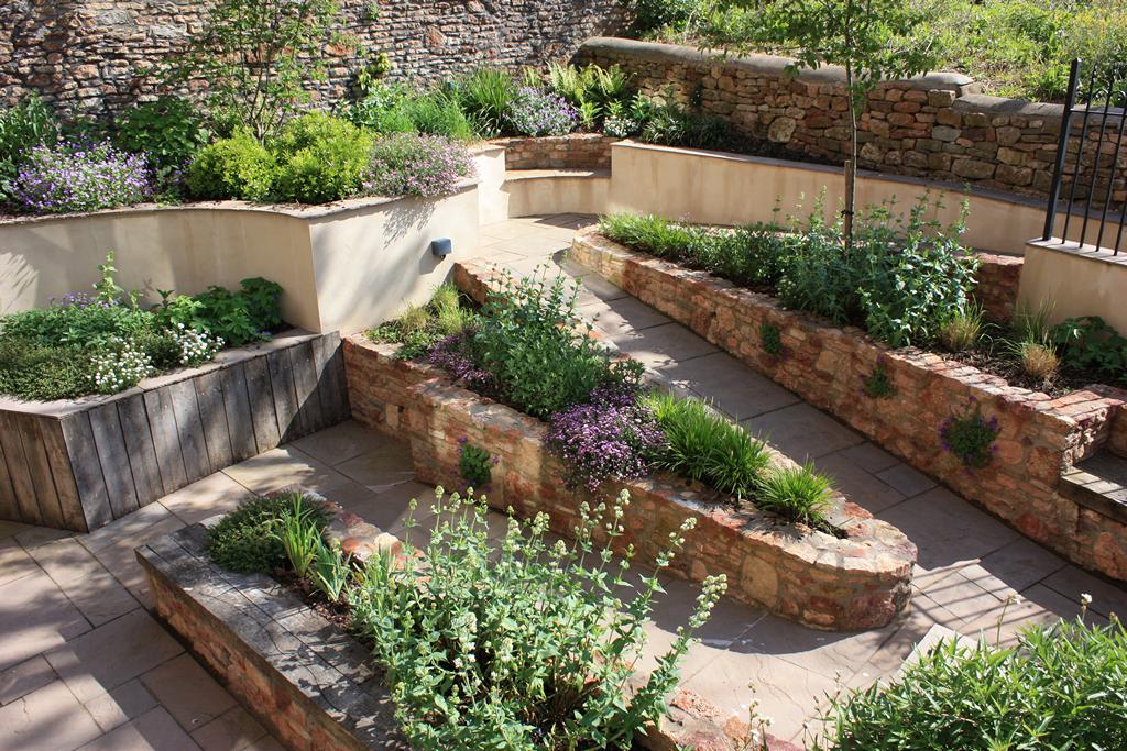 Sunken Garden elevated view