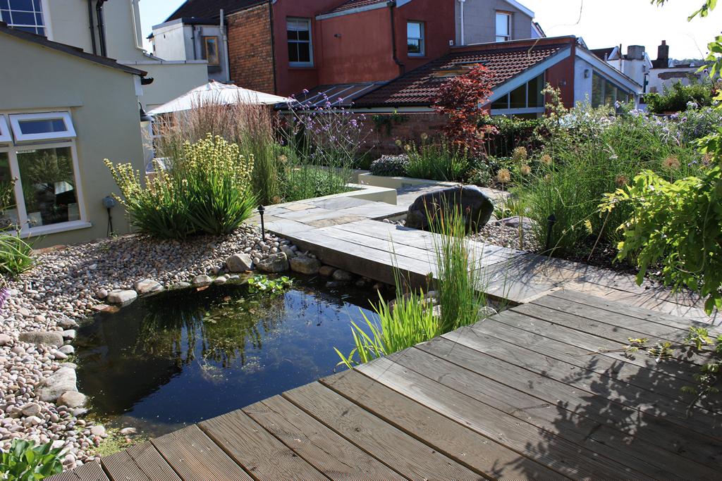 Pebble-edged wildlife pool